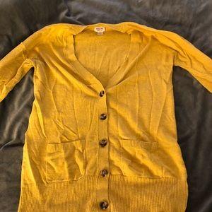 Sweaters - Mustard yellow cardigan